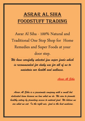 Natural foodstuff company dubai by asraralsiha - issuu
