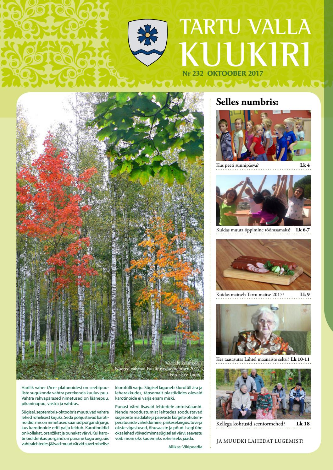 cafdbb61619 Tartu Valla Kuukiri (232) Oktoober 2017 by Tartu Valla Kuukiri - issuu