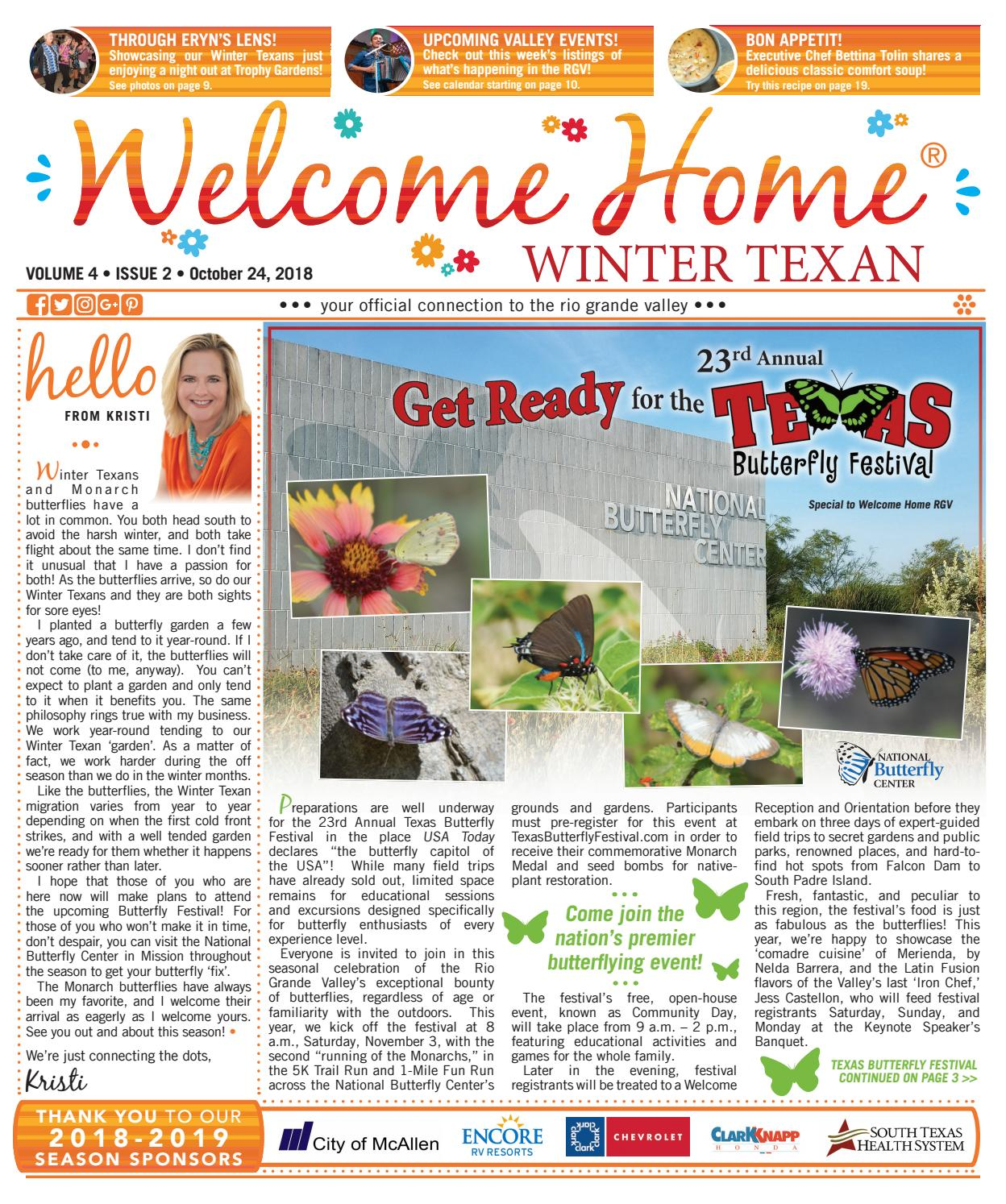 Welcome Home Winter Texan : Vol 4 Issue 2 : October 24, 2018 by