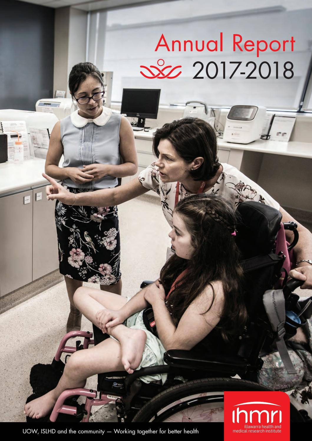 2017 18 Annual Report Illawarra Health And Medical Research