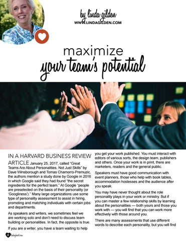 Page 14 of Maximize Your Team's Potential