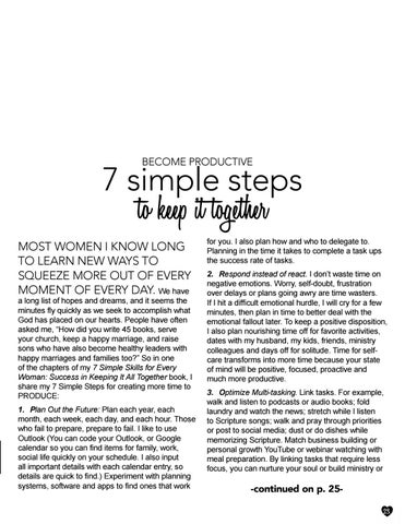 Page 23 of Become Productive: 7 Simple Steps to Keep it Together