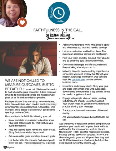 Page 34 of Faithfulness in the Call