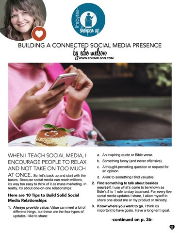 Page 35 of Building a Connected Social Media Presence