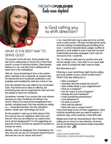 Page 3 of Letter from the Editor: Is God Calling You to Switch Direction