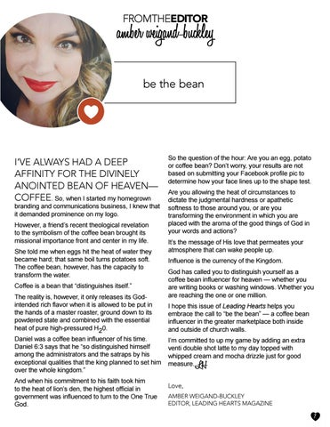 Page 7 of From the Editor: Be the Bean