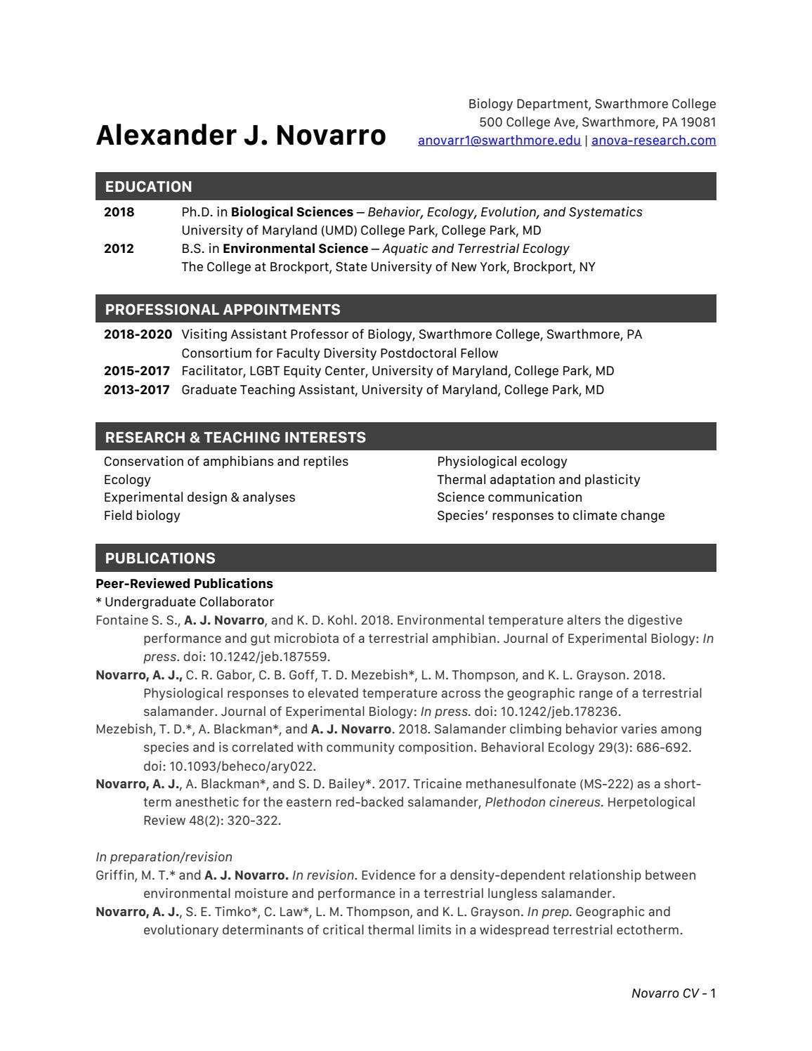 Novarro CV October 2018 by ANOVA Research - issuu