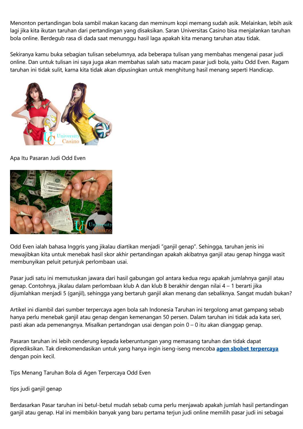 Jenis Taruhan Judi Bola Online Terpercaya By N1renzh536 Issuu