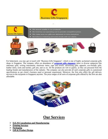 Business Gifts   Corporate Gifts Singapore   Door Gifts