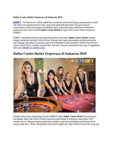 Daftar Casino Sbobet Terpercaya Di Indonesia 2018 By Cindy Amore Issuu