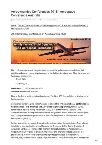 Aerodynamics, Fluid dynamics and Aerospace Engineering by