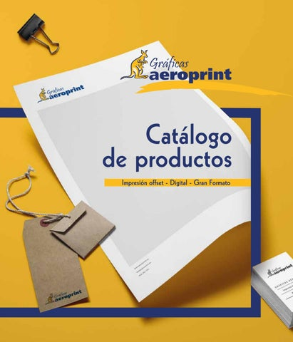 Catálogo Aeroprint 2018 - 2019 by graficasaeroprint - issuu 5cb0d285f71e2