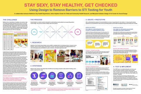 Stay Sexy Stay Healthy Get Checked Using Design To Remove Barriers To Sti Testing For Youth By Mica Center For Social Design Issuu