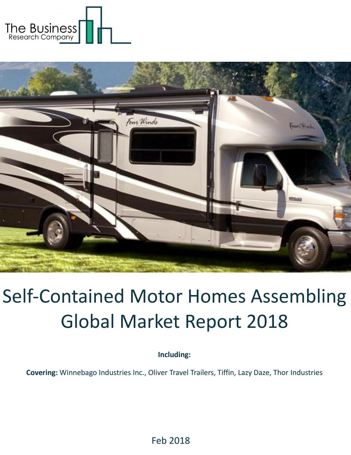 Self-Contained Motor Homes Assembling Global Market Report 2018 by
