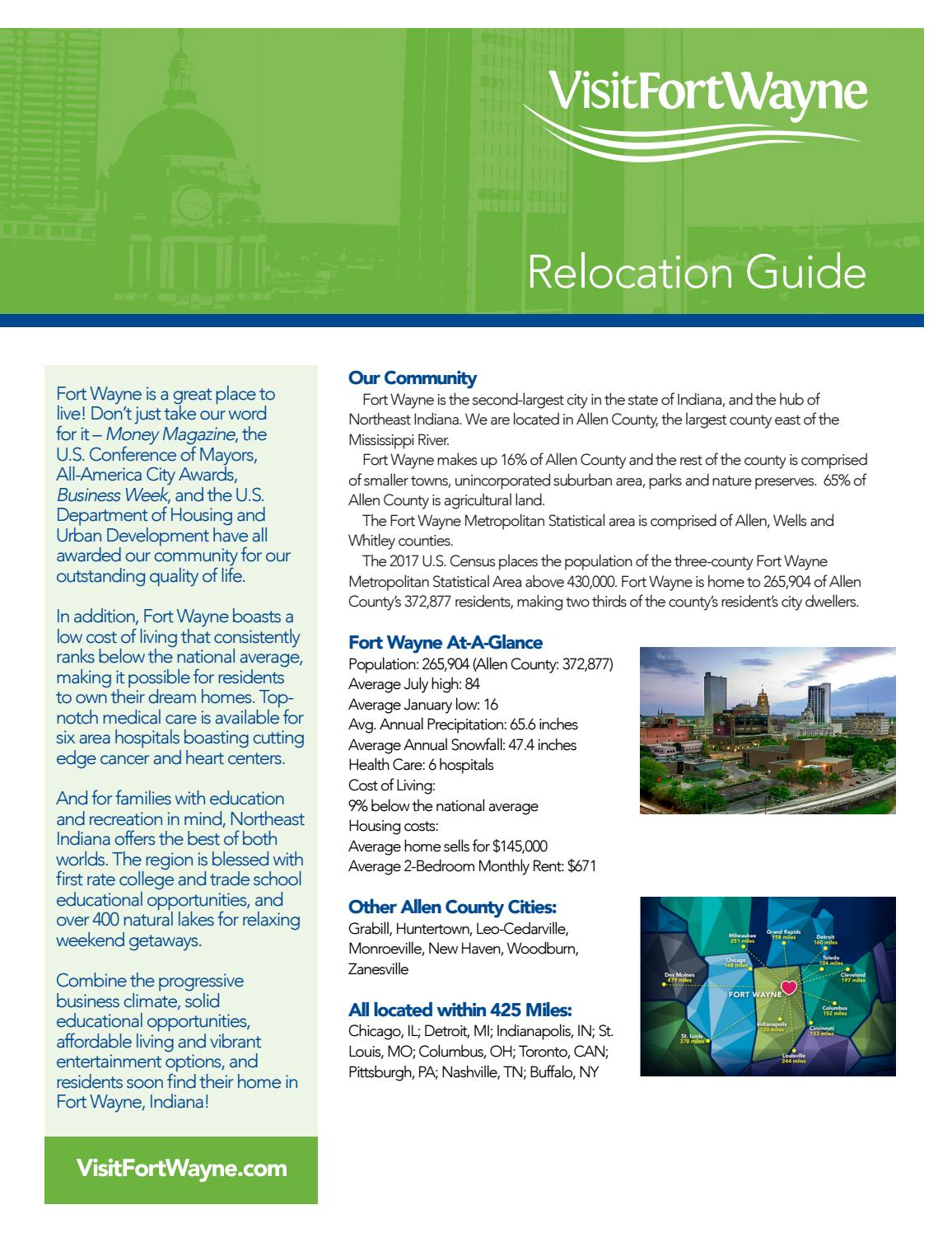 2019 Relocation Guide By Visit Fort Wayne Issuu