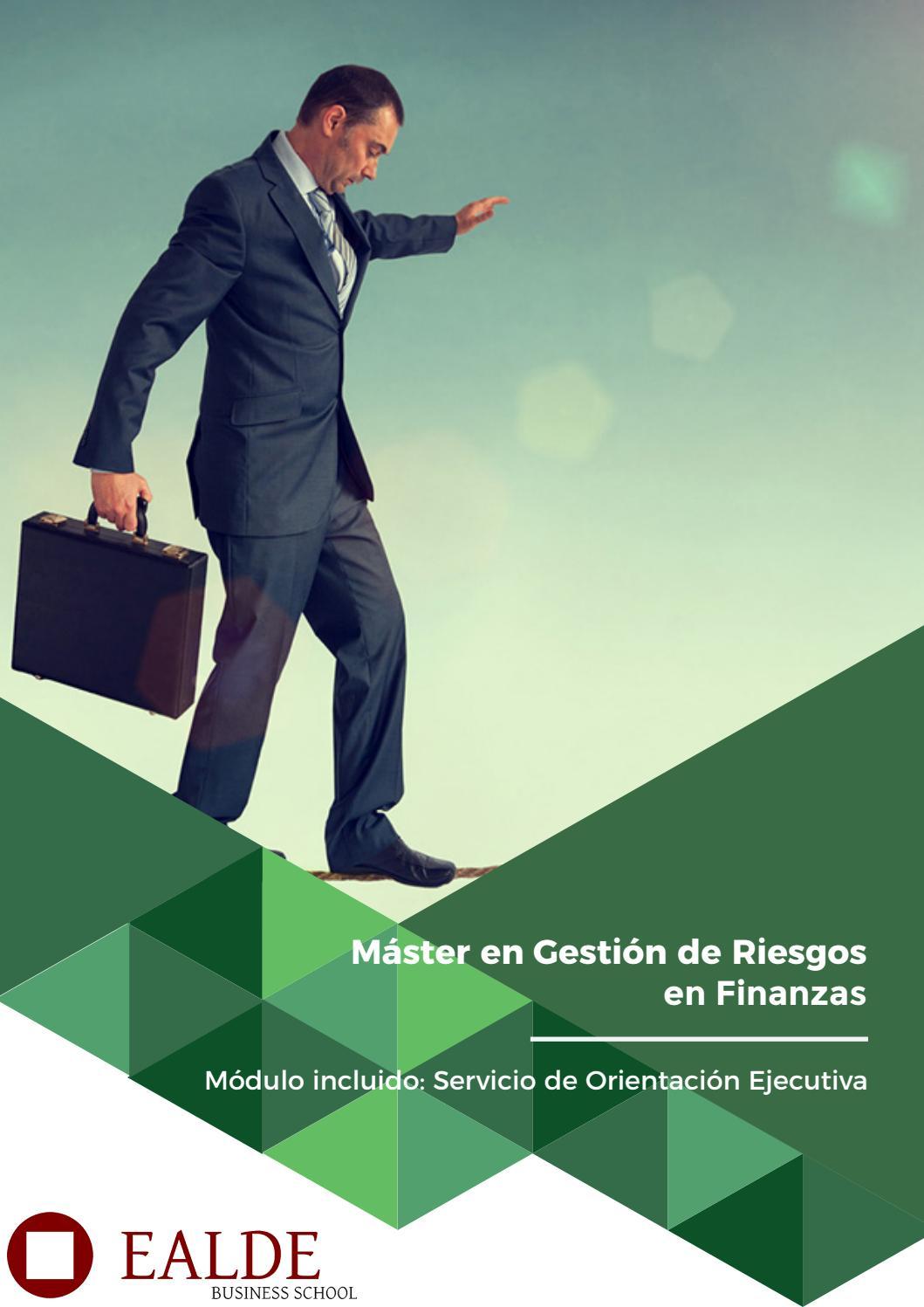 Máster en Gestión de Riesgos en Finanzas by EALDE Business School - issuu 57738a806dde4