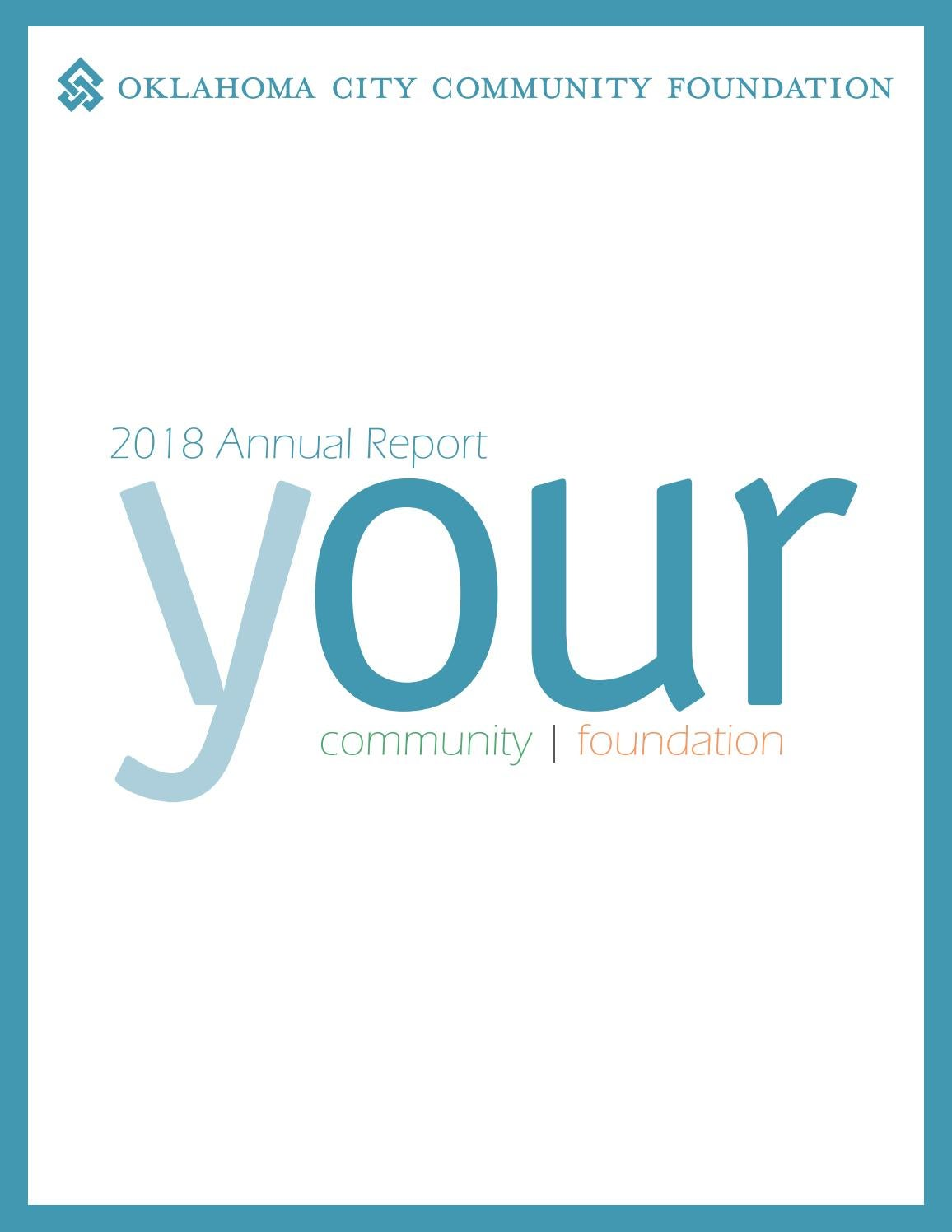 Oklahoma City Community Foundation 2018 Annual Report by