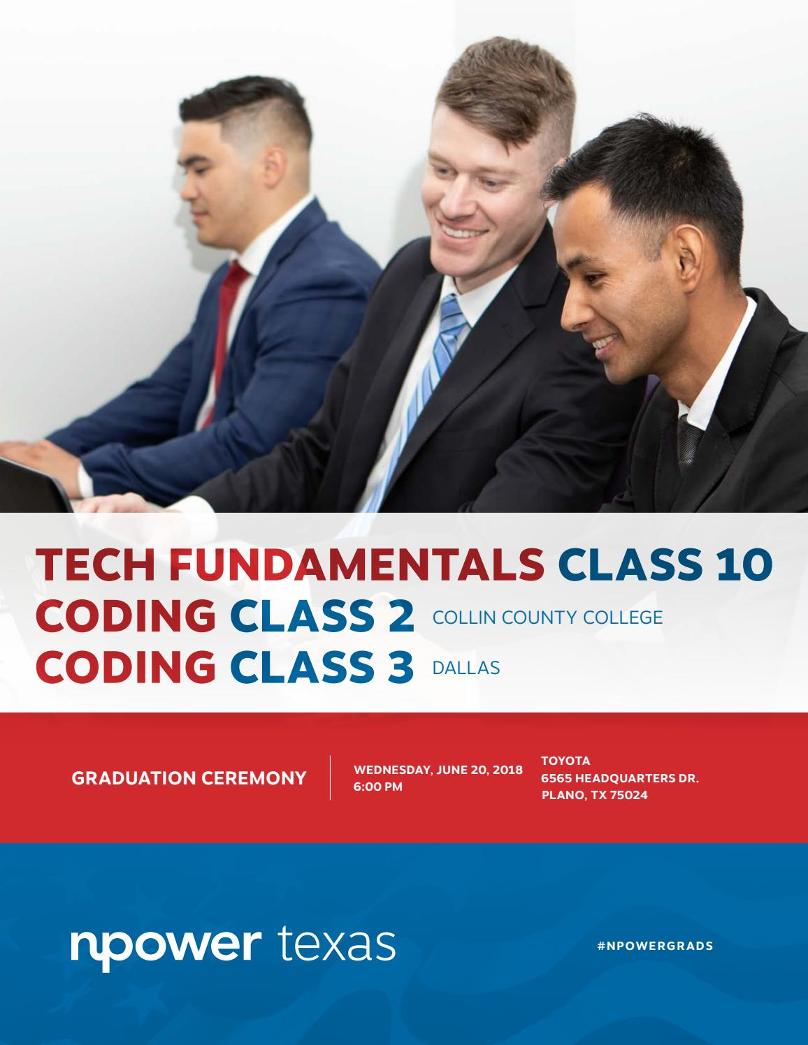 NPower Texas Tech Fundamentals and Coding Spring 2018 by