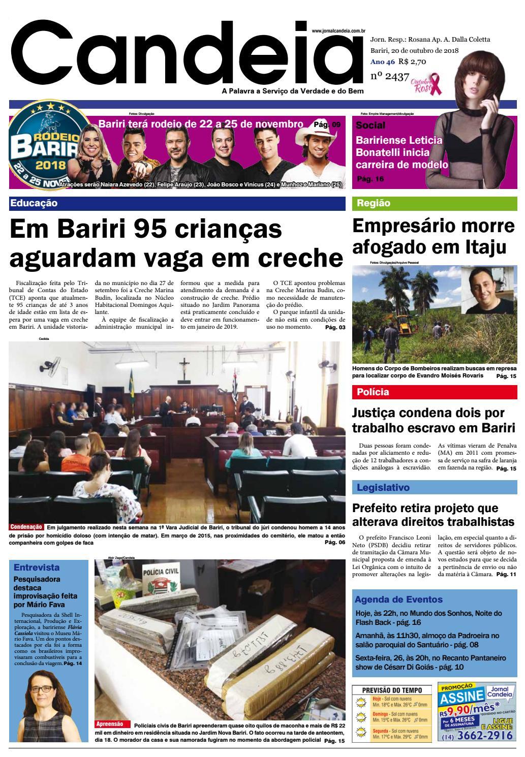 87bc4a83ce5 Jornal Candeia 20-10-2018 by Jornal Candeia - issuu