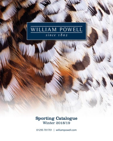 1b55c24867dae William Powell - Winter Catalogue 2018 by William Powell - issuu