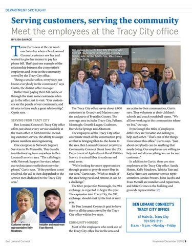 Page 9 of Serving Customers, Serving The Community