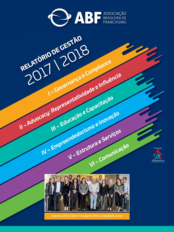 Relatório de Gestão 2017 - 2018 ABF by Editora Lamonica Conectada - issuu 8fe04d807c