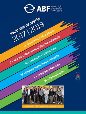 Relatório de Gestão 2017 - 2018 ABF by Editora Lamonica Conectada ... 6bb69a0bf8