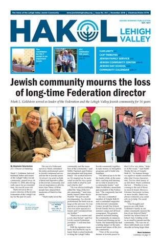 Hakol November 2018 By Jewish Federation Of The Lehigh Valley Issuu