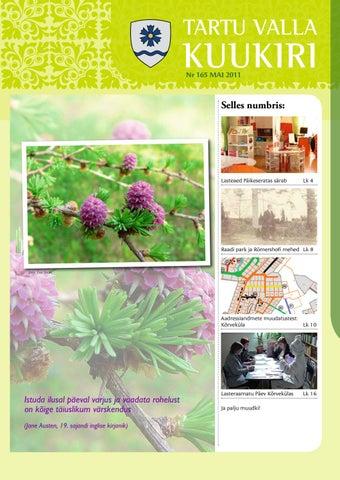 432f64ffcc2 Tartu Valla Kuukiri (165) Mai 2011 by Tartu Valla Kuukiri - issuu