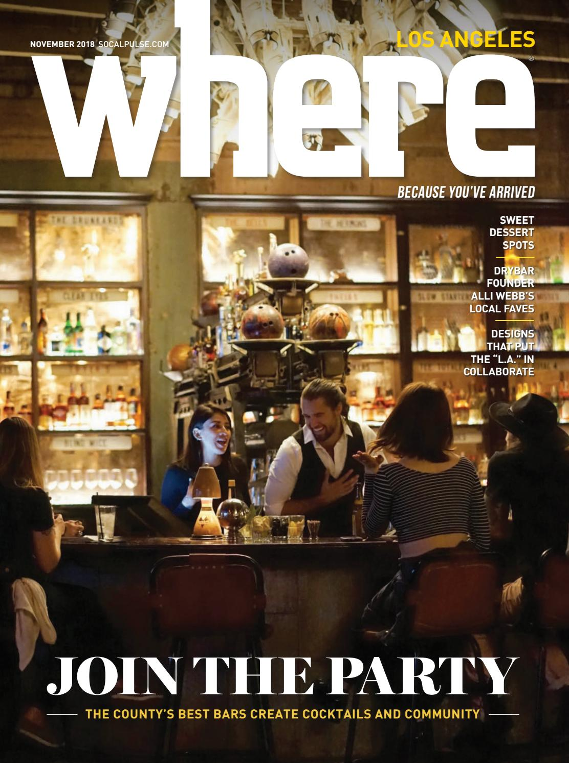 ddeafbb7a449 Where Los Angeles Magazine November 2018 by SoCalMedia - issuu