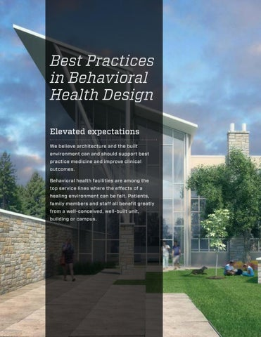 Best Practices In Behavioral Health Design By Array Architects Issuu