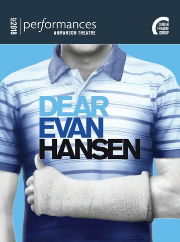 Dear Evan Hansen At Center Theatre Group Performances Magazine