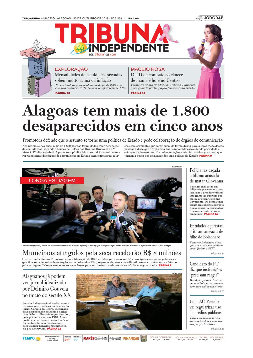 1bca264ed23 Edição número 3254 - 23 de outubro de 2018 by Tribuna Hoje - issuu