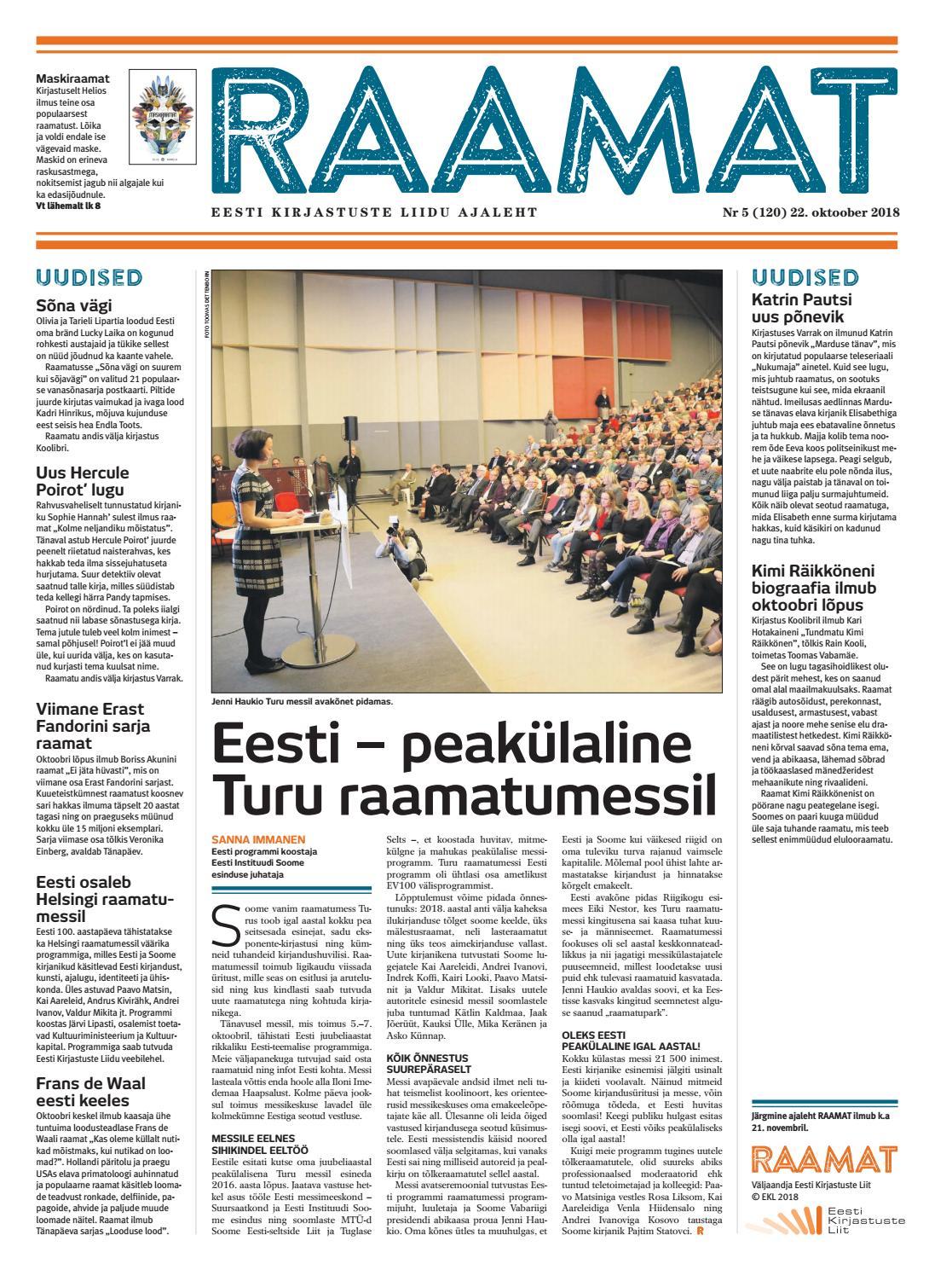7e86e4600bf Ajaleht RAAMAT nr 120 (oktoober 2018) by Kaidi Urmet - issuu