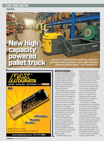 Page 82 of New high capacity powered pallet truck