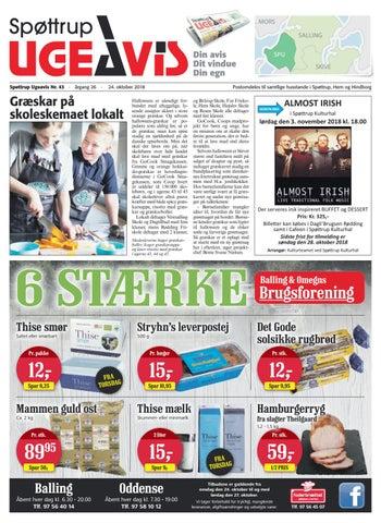6cea3711e07 Spøttrup Ugeavis uge 43 2018 by Spøttrup Ugeavis - issuu