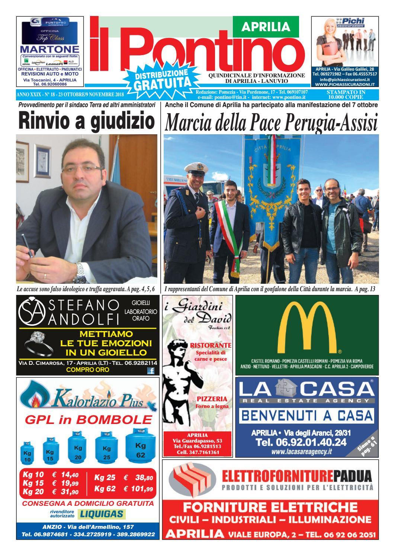 IL PONTINO APRILIA - Anno XXIX - N. 18 - 23 Ottobre 9 Novembre 2018 by Il  Pontino Il Litorale - issuu a034f7ba609