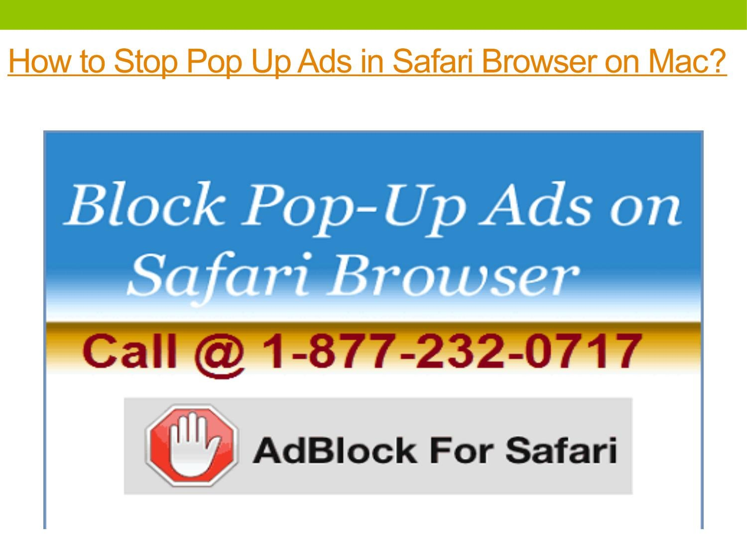 How to Stop Pop Up Ads in Safari Browser on Mac? by Mac Tech