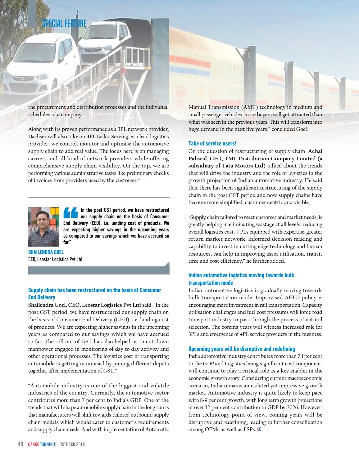 CARGOCONNECT - October issue 2018 by Surecom Media - issuu