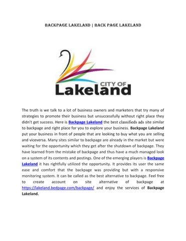 Lakeland backpage com