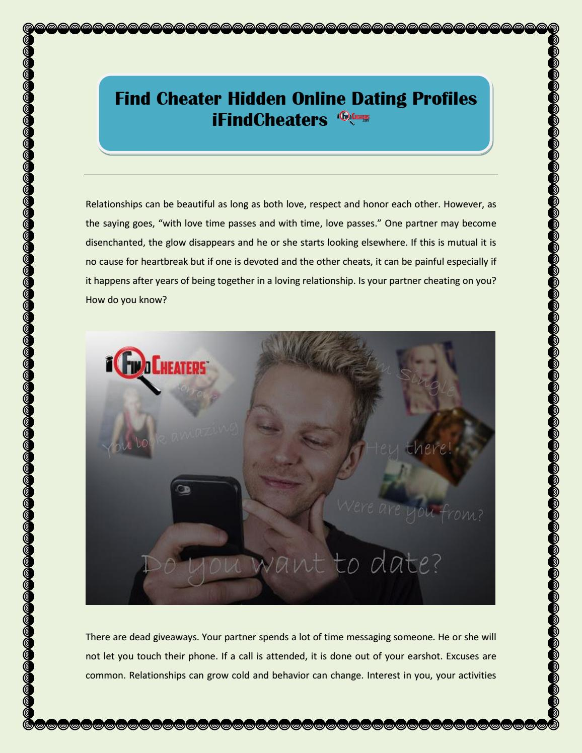 Find Cheater Hidden Online Dating Profiles - iFindCheaters