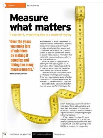 Page 16 of SO 18 Measure what matters
