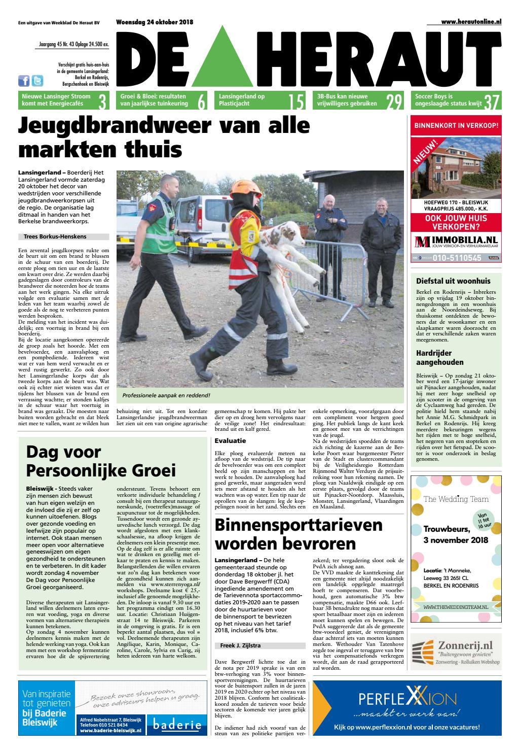 d81b5915c85765 De Heraut week 43 2018 by Nieuwsblad De Heraut - issuu