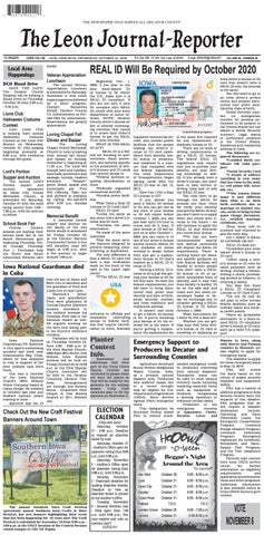 The Leon Journal-Reporter - October 24, 2018