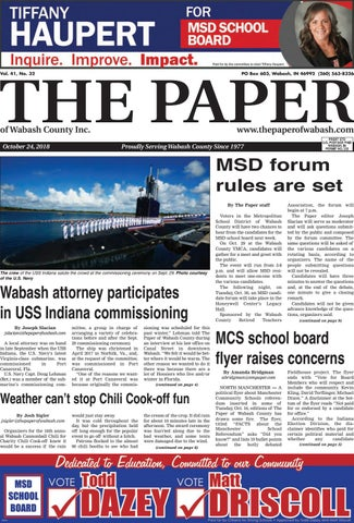 The Paper Of Wabash Oct 24 Issue By The Paper Of Wabash County Issuu