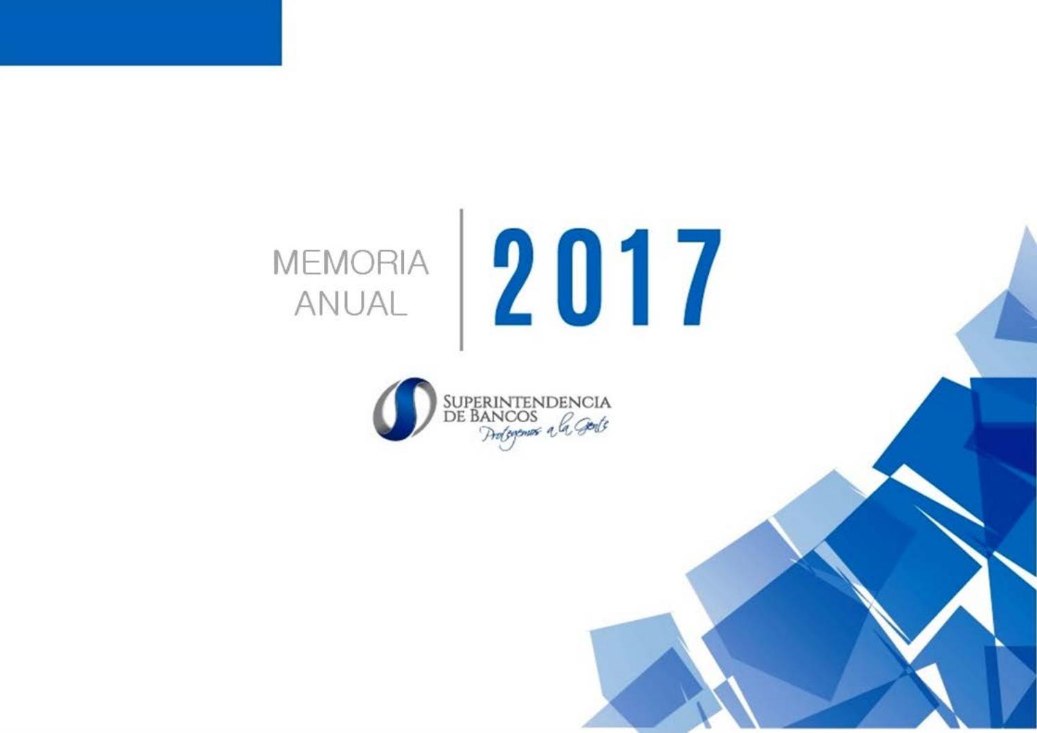 Memoria Institucional 2017 By Superintendencia De Bancos Issuu