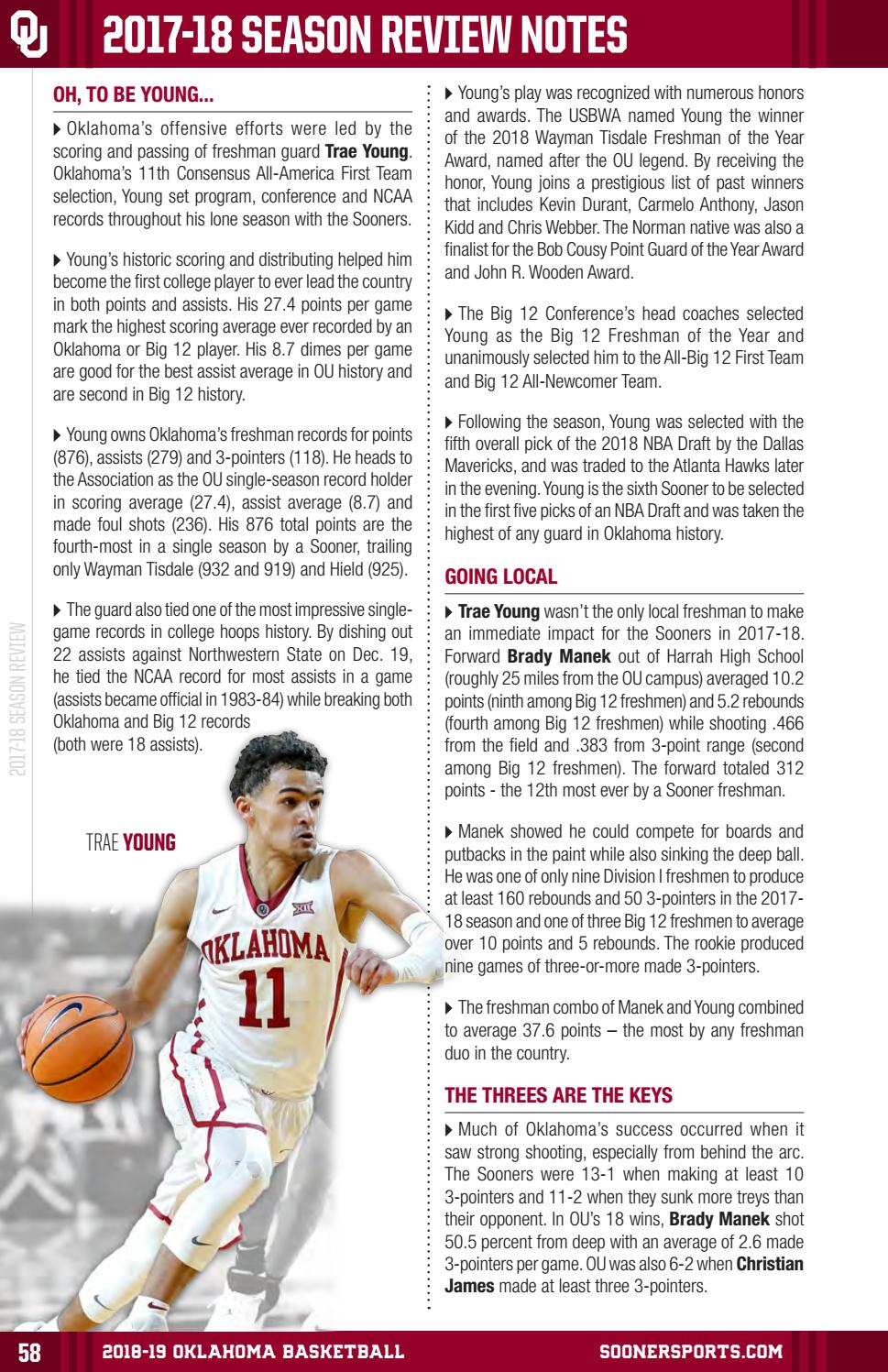 96d1aae85fb7 2018-19 Oklahoma Men s Basketball Media Guide by OU Athletics - issuu