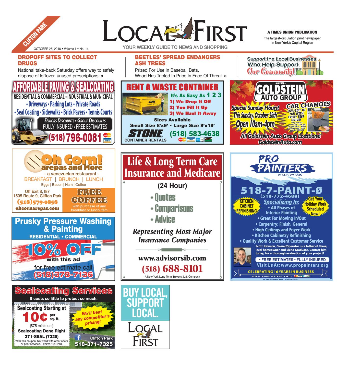 Local First Clifton Park 102518 By Capital Region Weekly Newspapers Issuu