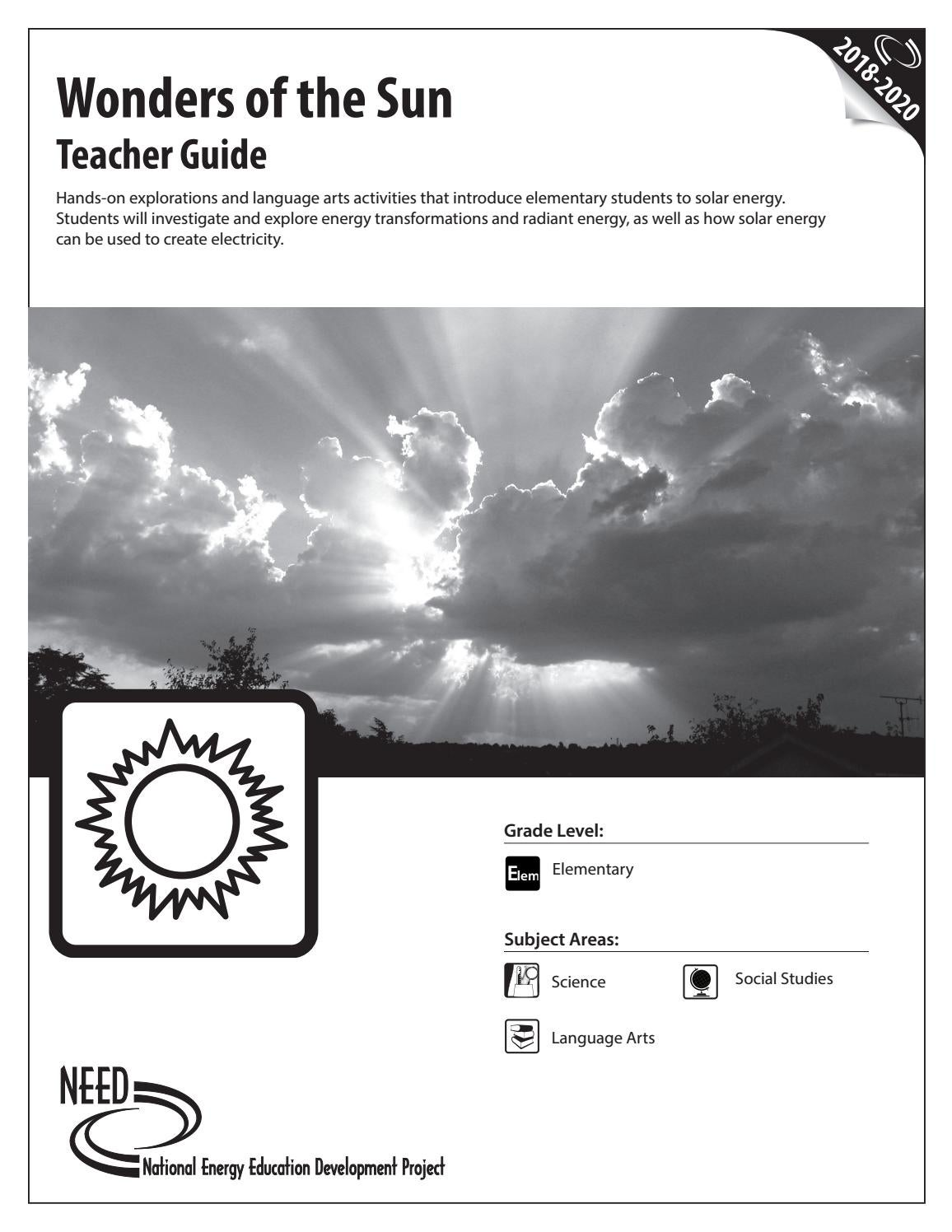 Wonders of the Sun Teacher by NEED Project - issuu