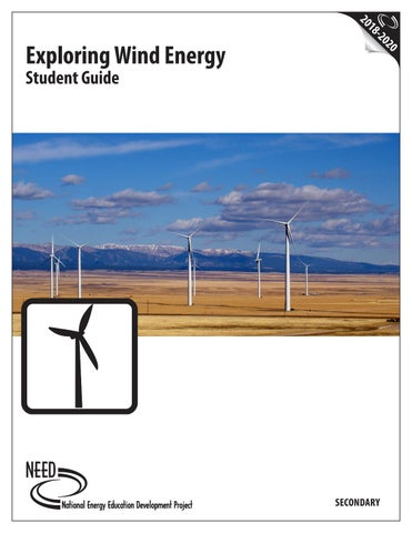 Exploring Wind Energy Student Guide by NEED Project - issuu